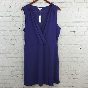 Charming Charlie royal blue surplice bodice dress